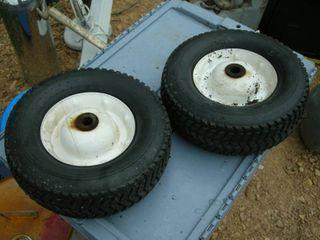 Pair Hard Rubber Utility Wheels