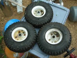 Set of 3 4.10/3.50-4 Utility Wheels