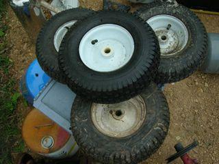 Four 13x5.00-6 Utility Wheels