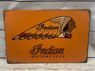 Indian Motorcycle Metal Sign Apprx 8