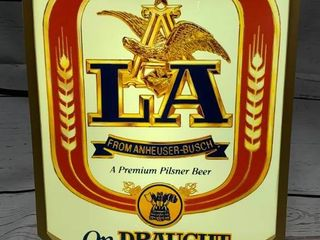LA Lighted Beer Sign From 1984