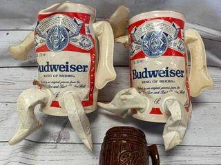 Blatz Mug & 2 Budweiser Inflatables