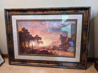 The Oregon Trail 1869 Framed Artwork 46x34