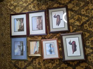 Lot of 7 pieces of art work