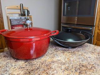 Cast iron enameled cookware