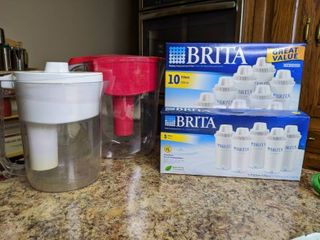 Lot of Britta Pitchers and Filters