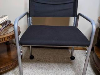 Metal Canvas Rolling Chair