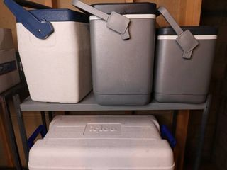 Lot of Four Ice Chests