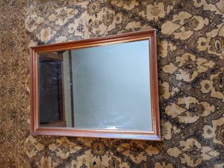 Rectangle Wall Hanging Mirror with Gold Accents