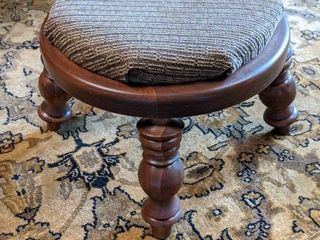 Solid Wood Foot Stool with Fabric Covering