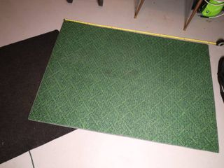Grass Look Plastic Feel Rug And black entry way mat