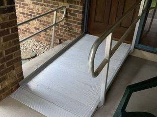 aluminum Access ramp and railings for disabled