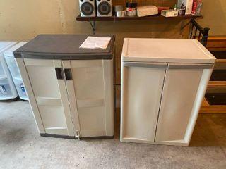 Lot of 2 Plastic Cabinet Orgainizers