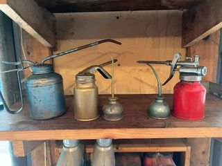 Vintage oil cans and 2 cycle motor oil