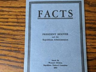 Facts by President Hoover- 1932