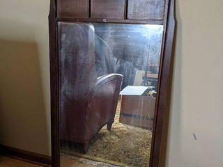 Hard Wood Hanging Mirror