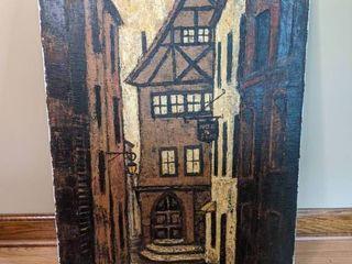 Narrow Street by Bonita Thurner- Oil on Canvas-