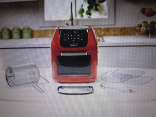 Power AirFryer Oven Deluxe 6 qt/Red...