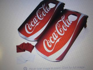 CocalCola Corn Hole Set open box Re...