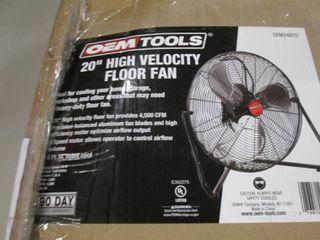 "OEM 20"" High Velocity Floor Fan ope..."