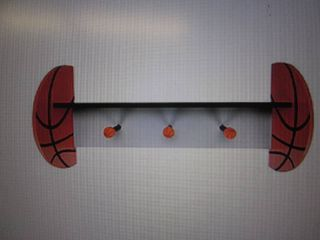 Basketball Wall Shelf open box Reta...