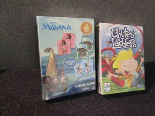 Chutes & Ladders, Moana Memory Game...