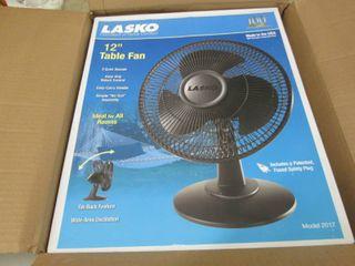 Lasko 12 inch Table Fan open box...