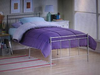 Star Hollow Metal Twin Bed - Silver...