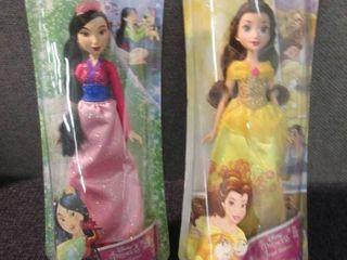 2 Disney Princess Dolls W2...