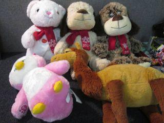 5 Assorted Plush Animals W4...