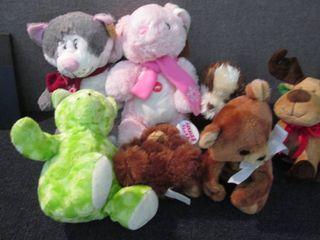 7 Assorted Plush Animals W3...