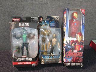 Lasher,Ironman, Aquaman W3...
