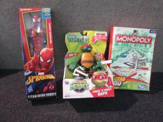 Spiderman, Teenage Mutant Turtle, M...