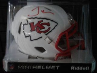 Signed Tyreek Hill White Matte Finish Kansas City Chiefs Mini Helmet With JSA James Spence Witnessed Authentication