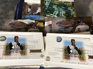 11 Boxes of 2000 SP Authentic   2000 Topps Finest   Opened and returned to boxes   not touched for decades