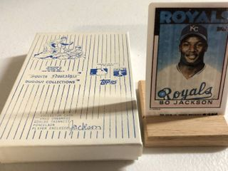 1986 Topps Traded Bo Jackson Rookie Card   World s Thinnest Porcelain Baseball Card   Complete in Box  limited Edition  Numbered  with Certificate of Authenticity