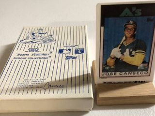 1986 Topps Traded Jose Canseco Rookie Card   World s Thinnest Porcelain Baseball Card   Complete in Box  limited Edition  Numbered  with Certificate of Authenticity