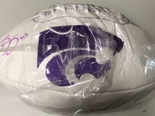 Signed Darren Sproles Kansas State Wildcats Football Arrowhead Logo w/James Spence Authentication