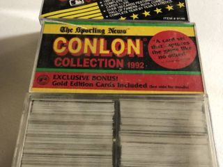 Complete 1991 Conlon Collection of Vintage Baseball Cards   990 Cards with Bonus Preview   Gold Cards