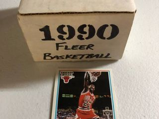 Complete 1990 Fleer Basketball Card Set Including Michael Jordan