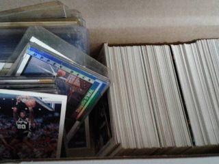 Box of Several Hundred NBA Basketball Cards   Michael Jordan  Shaq  David Robinson and Many more