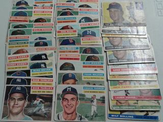 Huge lot of 1955 and 1956 Topps Baseball Cards