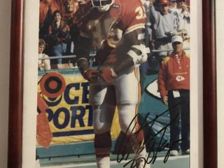 Signed Christian Okoye 8x10 Framed Photograph - Kansas City Chiefs