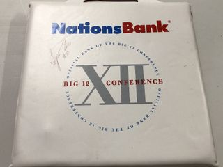 Signed Big XII 12 Tyron Lue Seat Cushion - Former Mizzou Tiger Star & Current NBA Coach