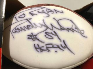Signed Randy White White Panel Mini Autographed Football - Dallas Cowboys & Hall of Fame - Personalized and