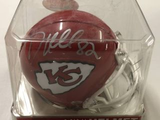 Signed Dante Hall Kansas City Chiefs Mini Helmet with Arrowhead Logo New in Package