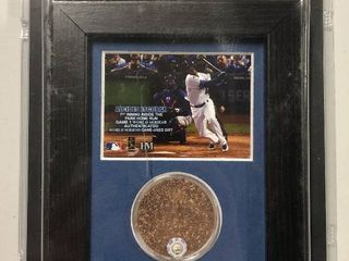 Officially Licensed Alcides Escobar 2015 World Series Game Used Dirt With MLB Authentication 4x6 inch Framed Piece