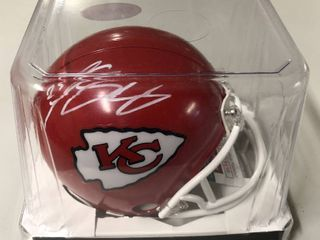 Signed Lesean McCoy Kansas City Chiefs Mini-Helmet With James Spence WITNESSED Authentication (JSA)