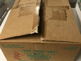 Huge Lot of 1990 Score NFL Football Factory Sealed Blister Packs - 101 Cards per Pack - Almost Full - Over 40 Packs