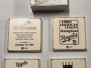 Two Complete Sets of Kansas City Royals Coasters - New In Box - Commemorating Royals Greatest Moments - Only Given to Season Ticket Holders